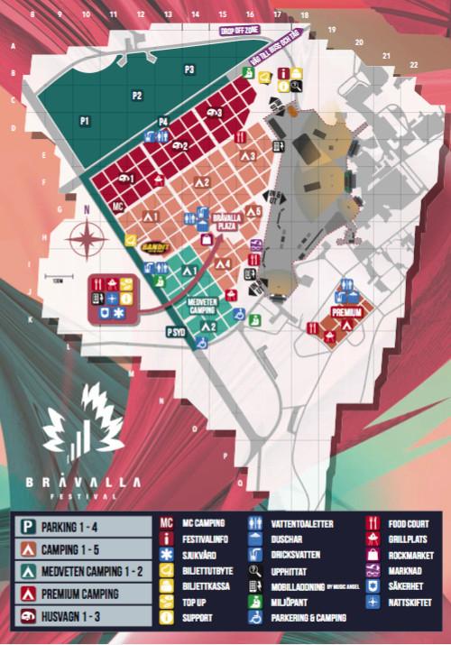 bråvalla festival karta Bråvallafestivalen 2016   allt du behöver veta inför i år | Baaam bråvalla festival karta