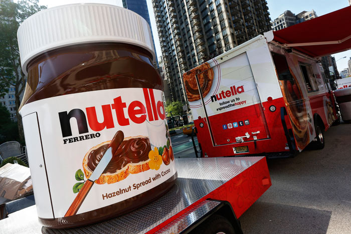 nutella trucken 2016