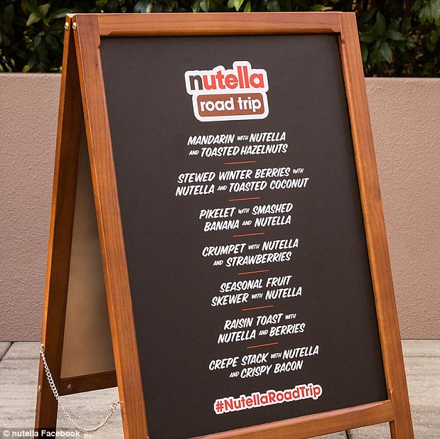 nutella trucken