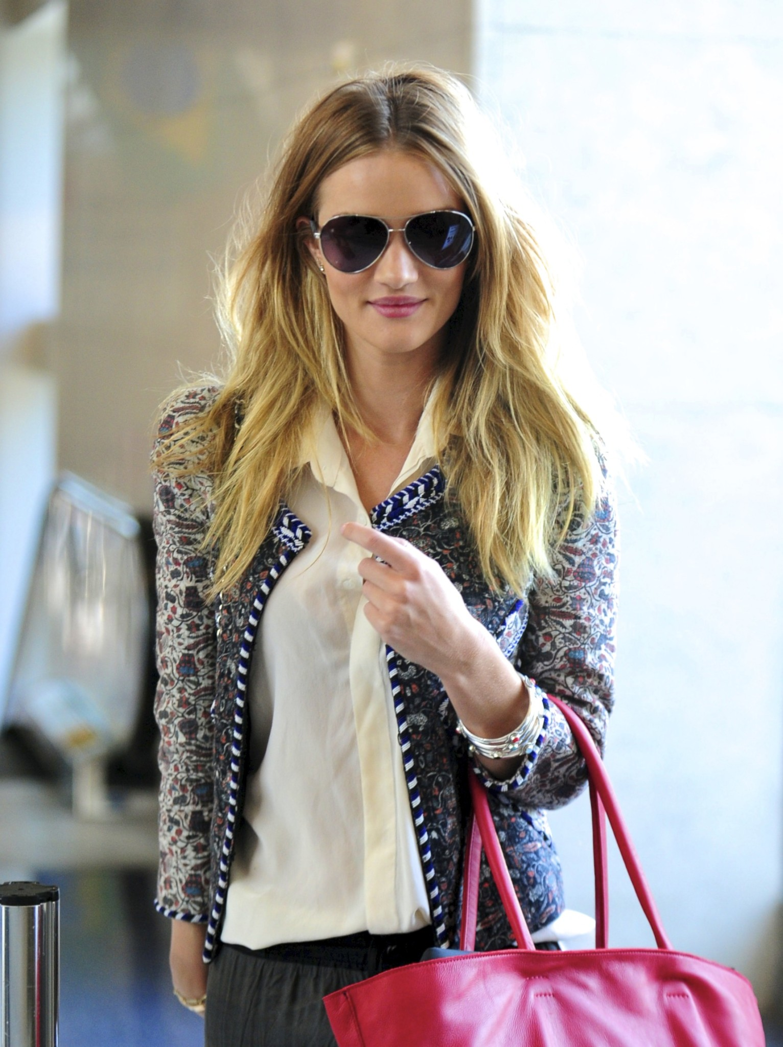 ©NATIONAL PHOTO GROUP  Rosie Huntington Whiteley departs from LAX Airport.  Job: 033111C19 EXCLUSIVE March 30th, 2011 Los Angeles, CA NPG.com
