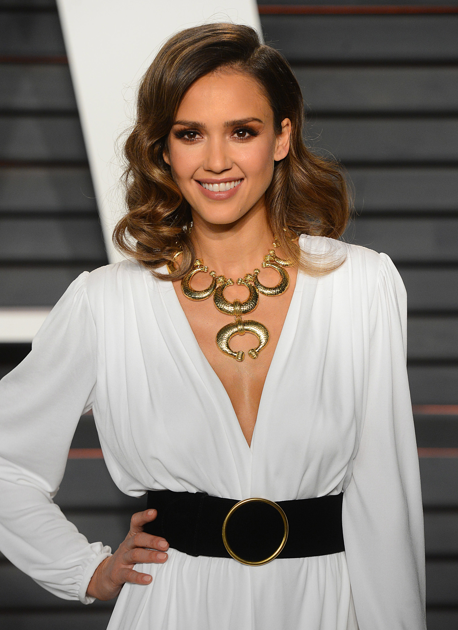 The 2016 Vanity Fair Oscar Party Red Carpet Pictured: Jessica Alba Ref: SPL1238152 290216 Picture by: All Access Photo Splash News and Pictures Los Angeles:310-821-2666 New York: 212-619-2666 London: 870-934-2666 photodesk@splashnews.com