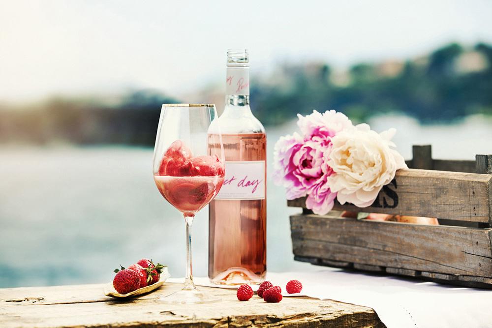 rosesorbet recept