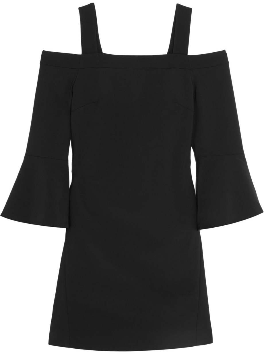 svart off shoulder klanning
