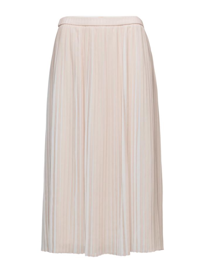 vit plisserad kjol