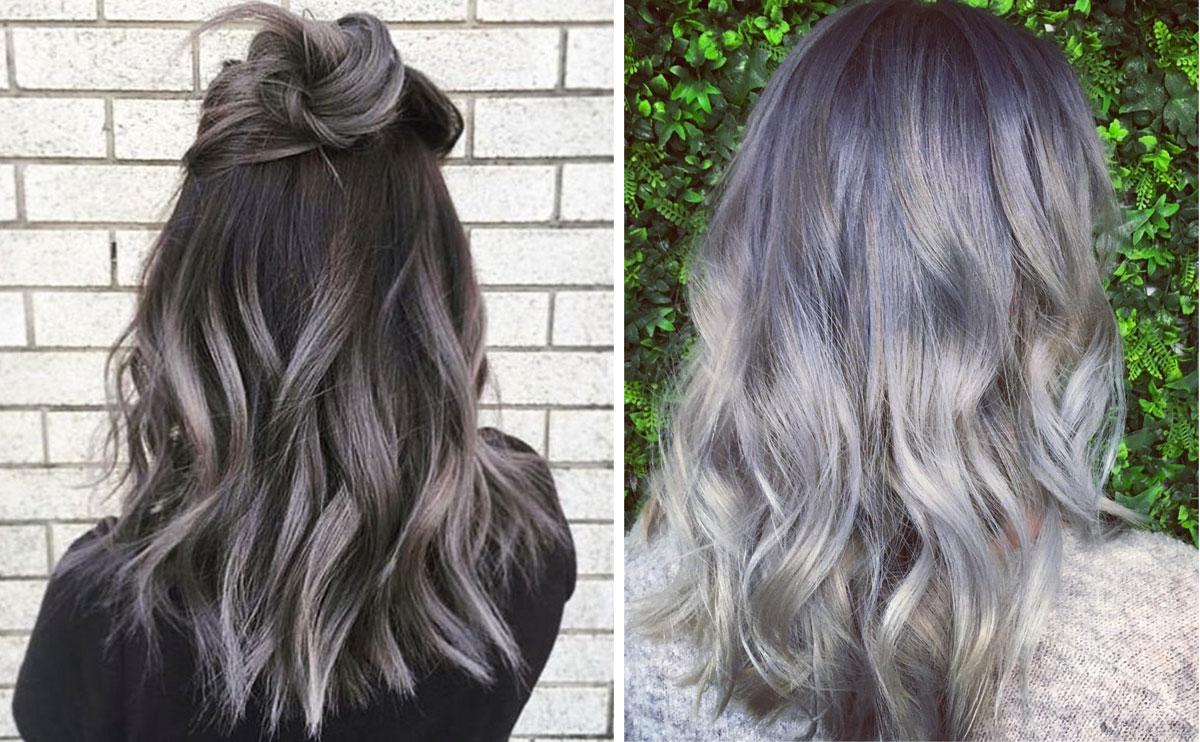 silver lila hårfärg