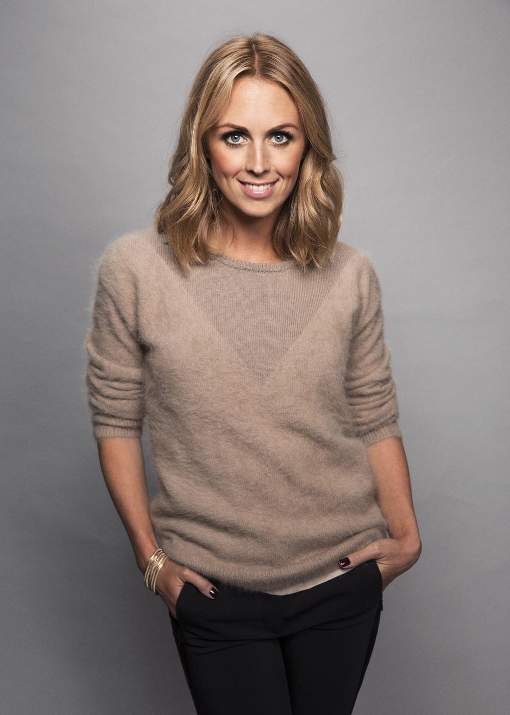 Karin Frick har chansen att vinna pris som Årets sport-tv-pofil under kvällens Kristallen.