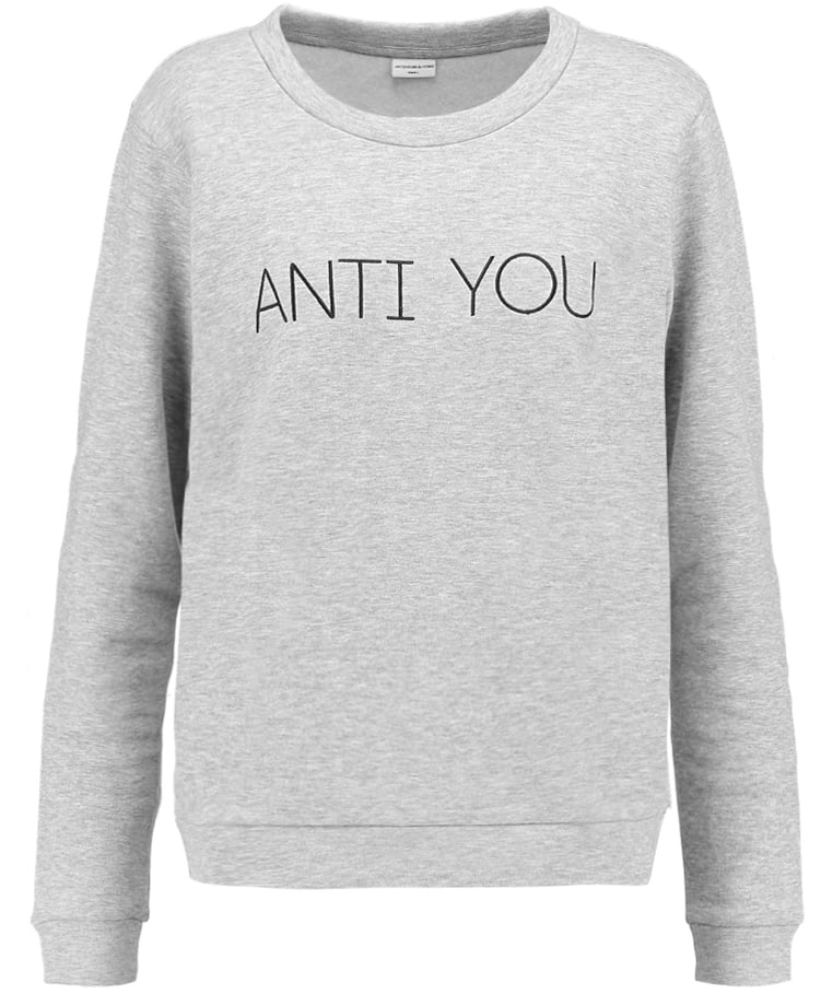 anti you sweatshirt jacqueline de yong