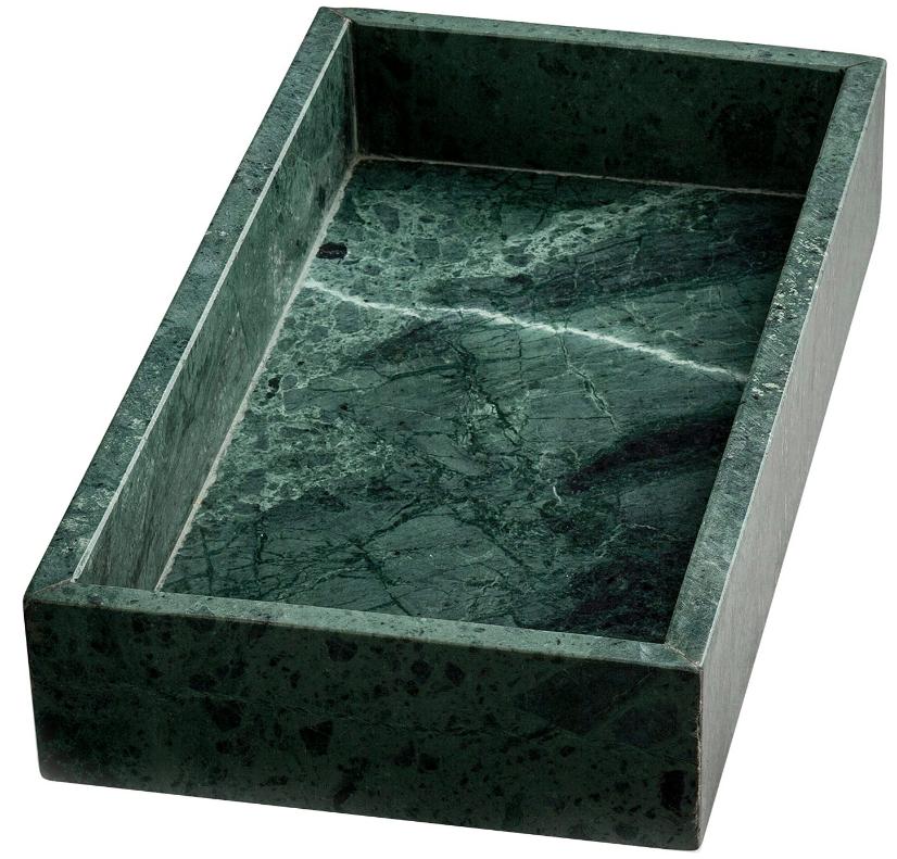 grön marmor bricka