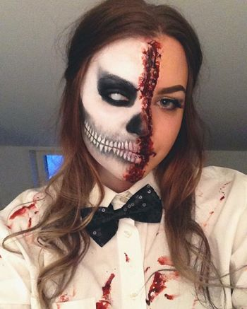 enkla halloween sminkningar