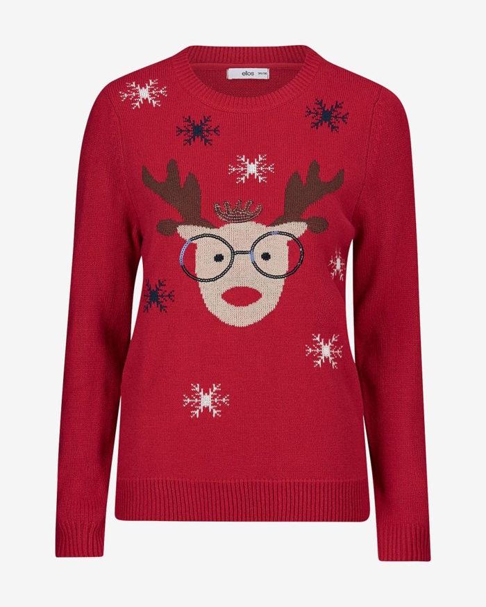 fed858fa861a Röd jultröja med ren att vänta in dopparedagen 2018 i, från Ellos. Läs mer  och köp här. (reklamlänk via Awin)