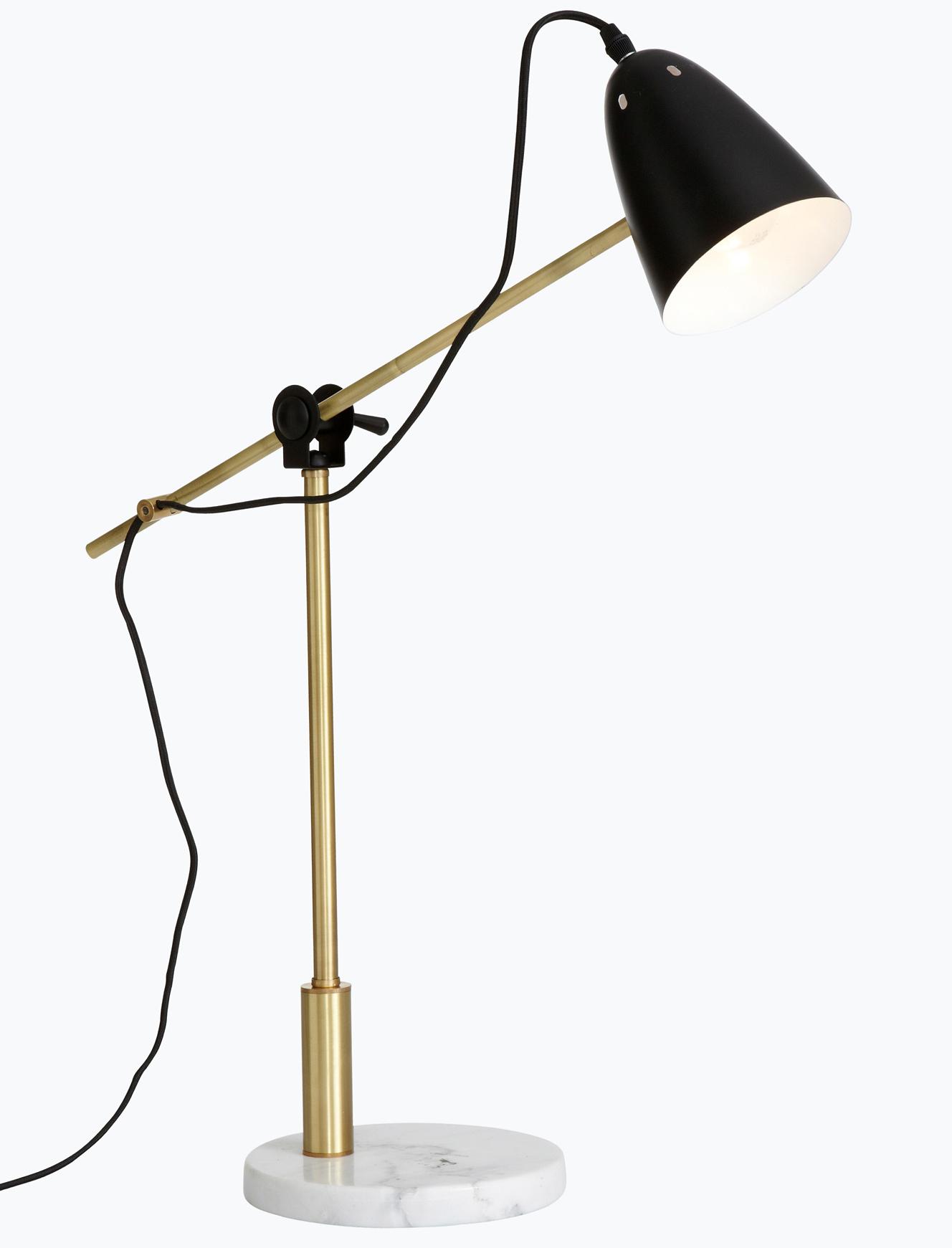 lampa marmor guld