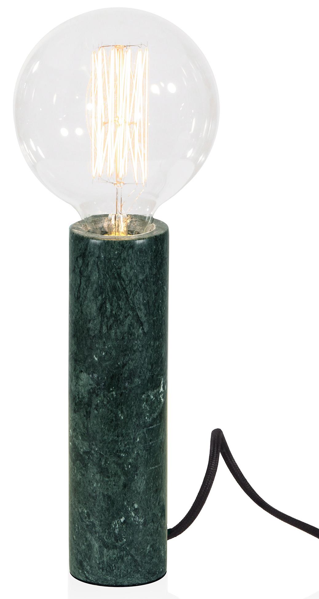 lampfot grön marmor
