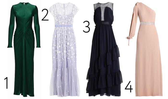 cab963871f45 1. Grön långklänning från Diana Orving (reklamlänk via Apprl) . Läs mer och  köp här. (reklamlänk via Apprl) 2. Spetsklänning från Needle & Thread ...