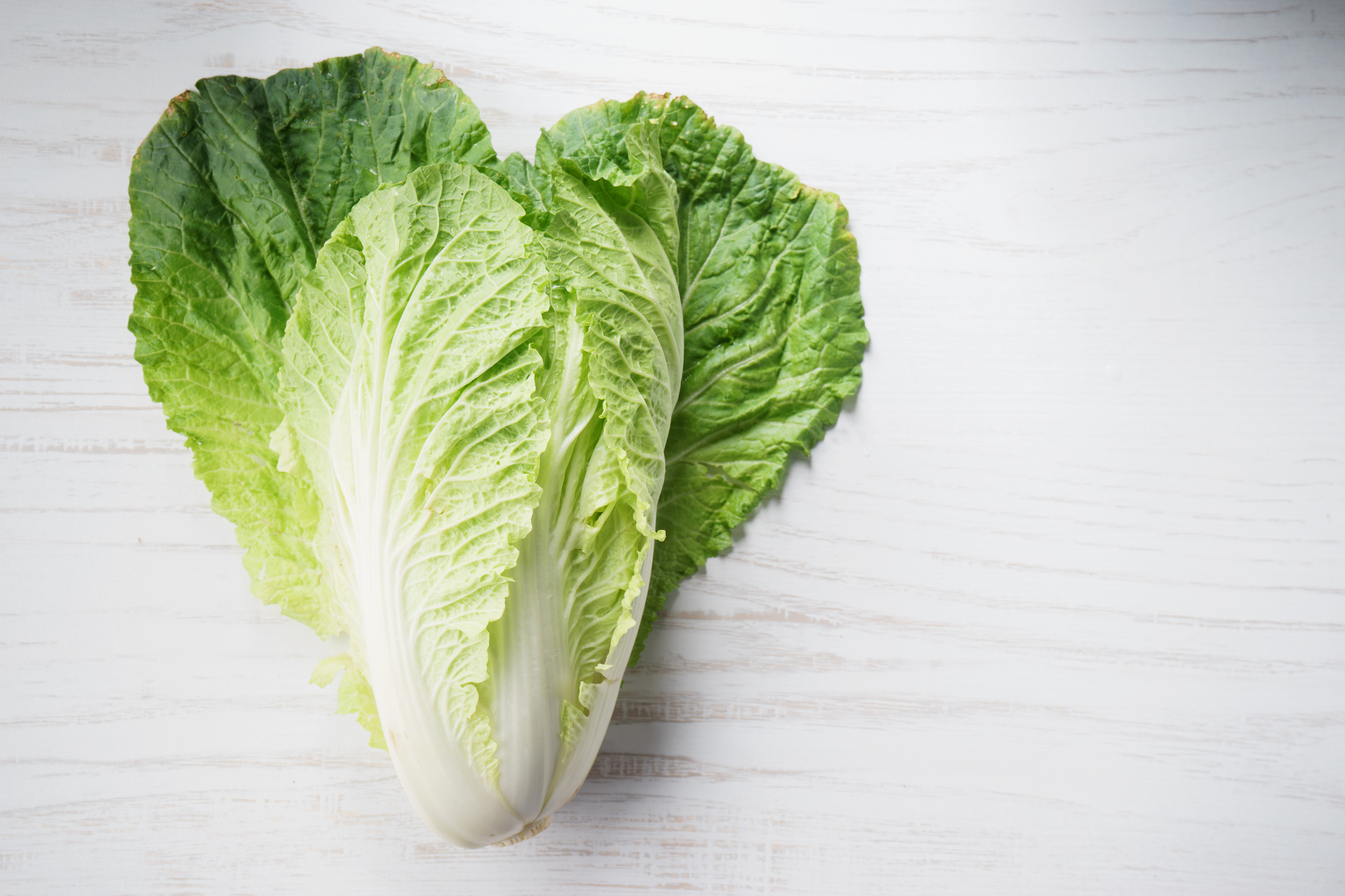 napa cabbage, Chinese cabbage, on wooden background