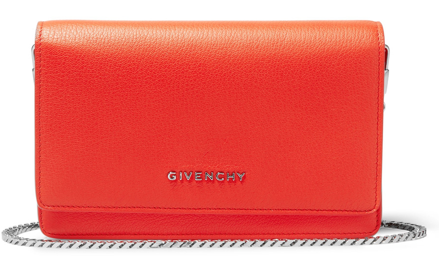 givenchy orange clutch