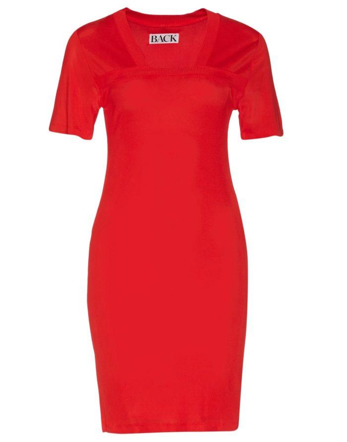 0ec71455a52f Röd ribbstickad klänning från BACK (reklamlänk via Apprl) . Klicka hem här.  (reklamlänk via Apprl)