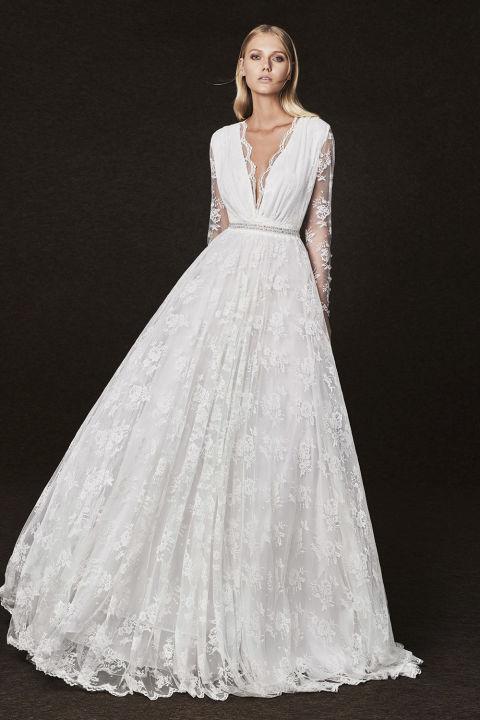 5995d545cd66 32 inspirerande och trendiga brudklänningar till 2017 | Baaam