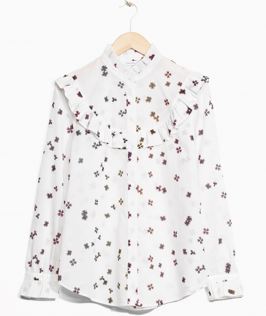 blus volang blommor