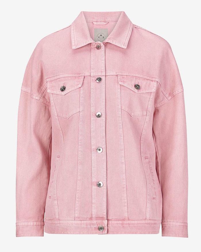rosa jeansjacka dam