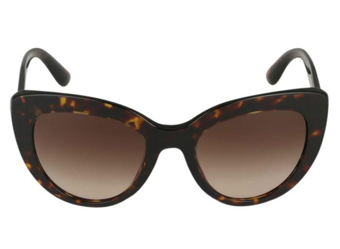 Bruna solglasögon med cat eye-form från Dolce   Gabbana (reklamlänk via  Apprl) b814b3b00af28