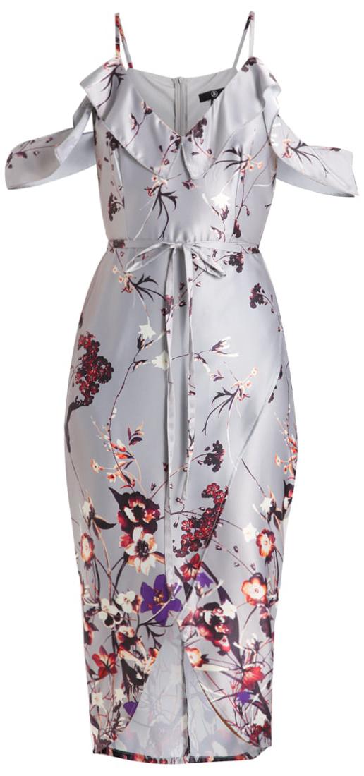 180fdb58c4f9 Blommig klänning med bara axlar från Missguided (reklamlänk via Apprl) .