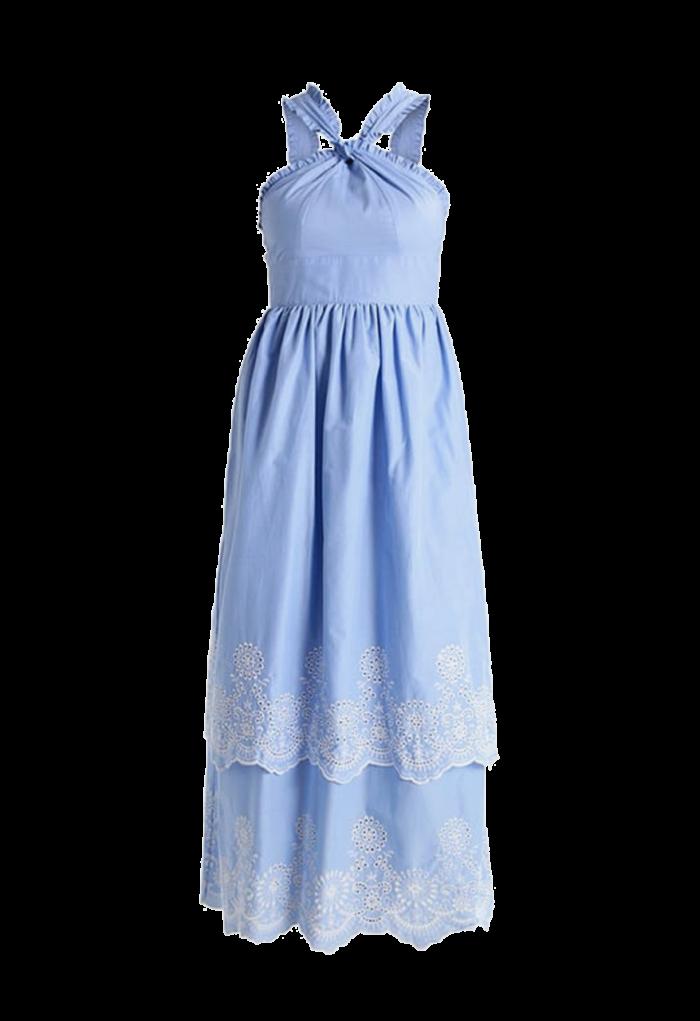 9e17593f6fc5 Snygg, ljusblå midsommarklänning från Mint & Berry (reklamlänk via Apprl) .