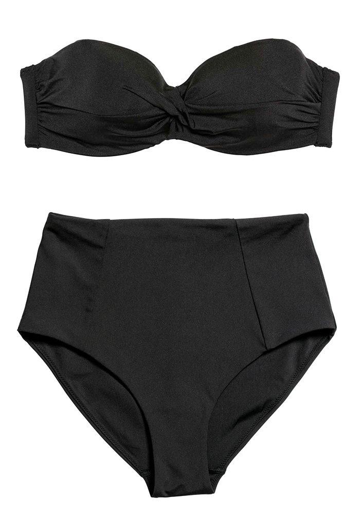 31cc10a3a518 Svart bikini med hög midja och avtagbara behåband från H&M.