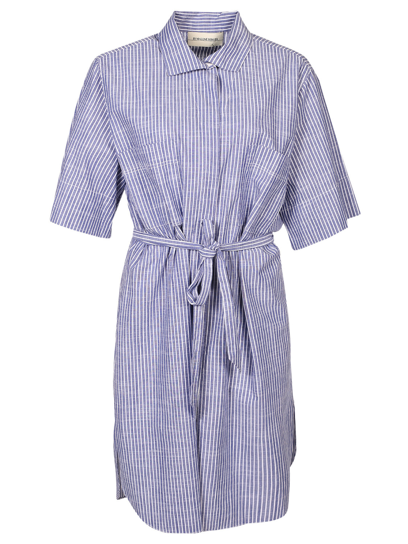 randig skjortklänning by malene birger