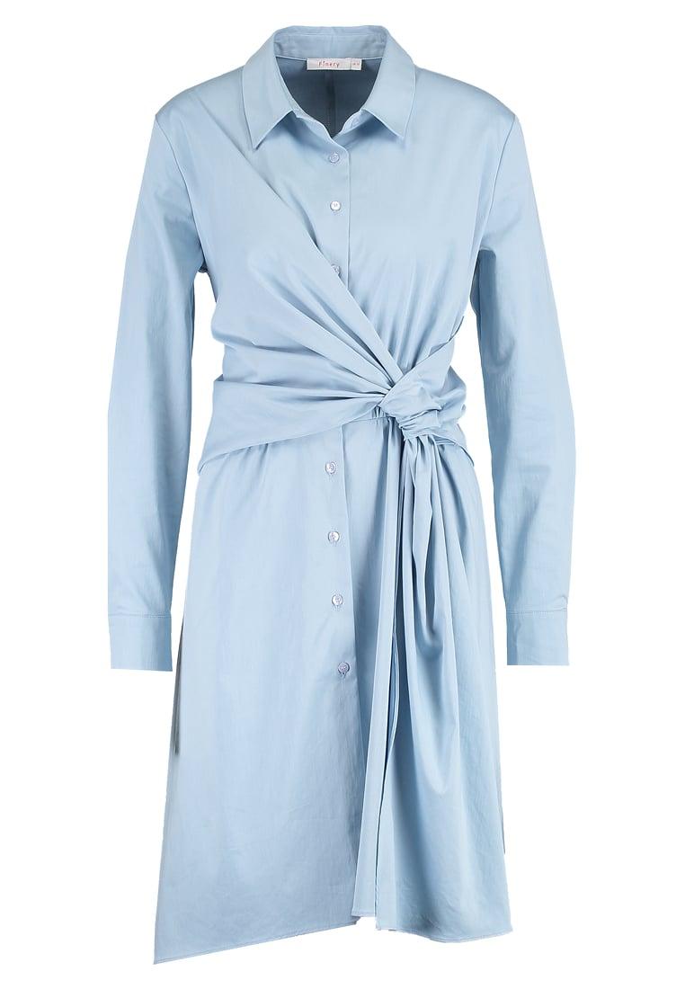 skjortklänning ljusblå