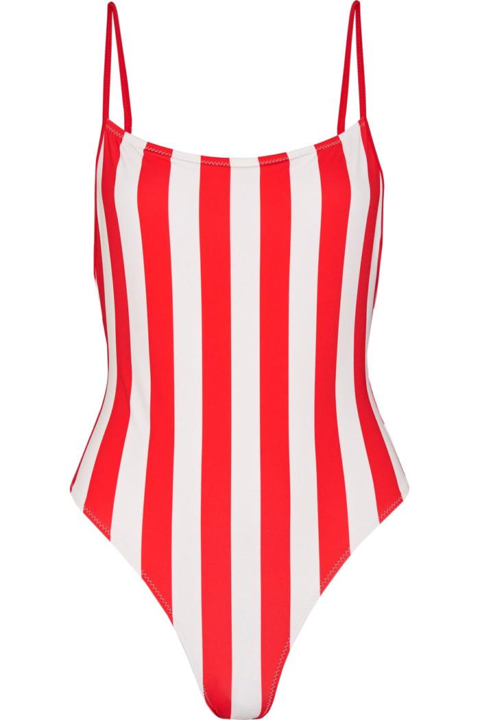 ... 21 trendiga baddräkter – lika snygga på stranden som i stan. 1. Randig  baddräkt i rött och vitt från Solid and Striped (reklamlänk via Apprl) . 76f834acddcd7