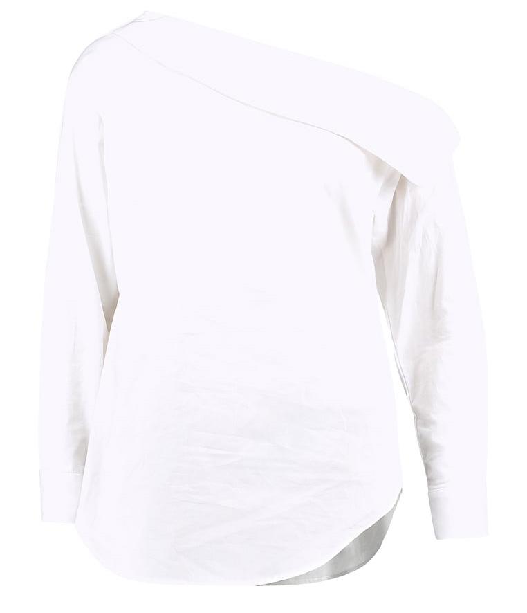 snedskuren vit skjorta