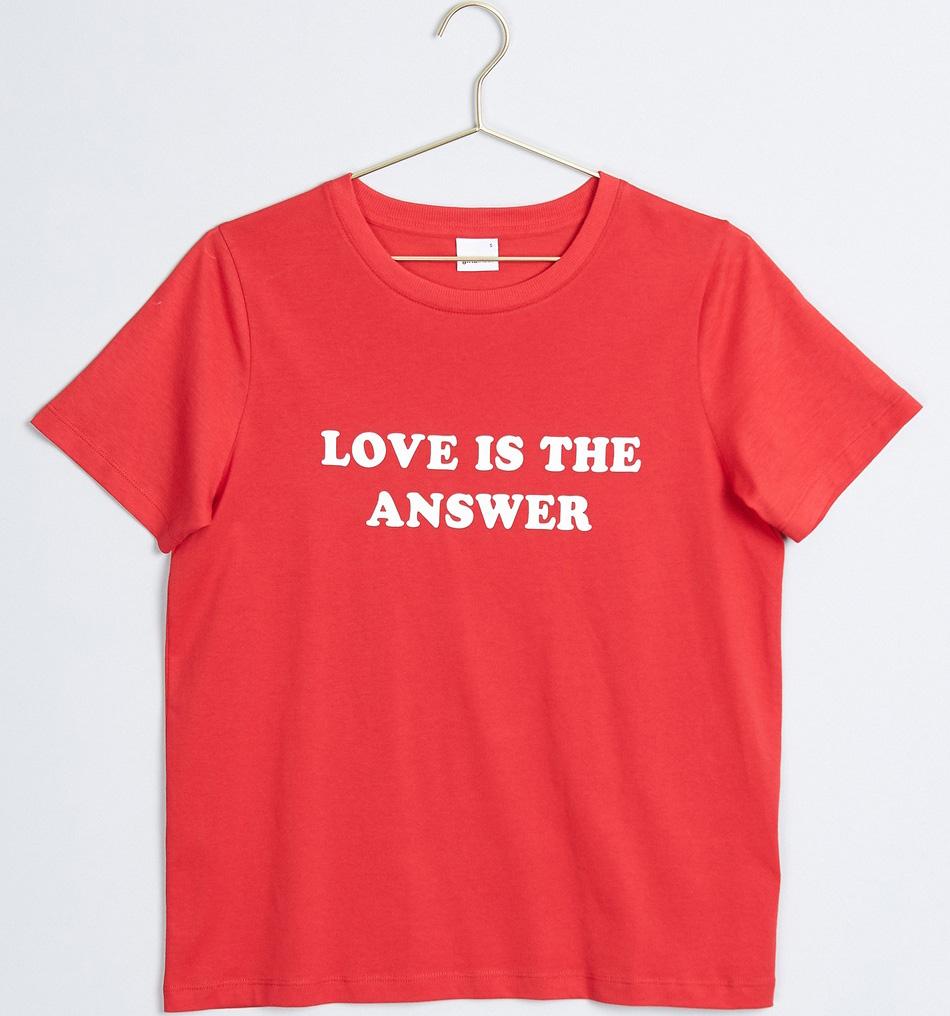 t-shirt gina tricot röd