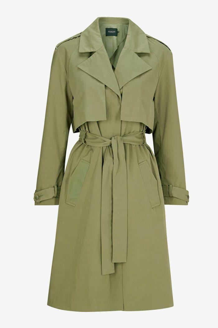 Dam | Jackor & Kappor | H&M FI | Green trench coat, Hooded