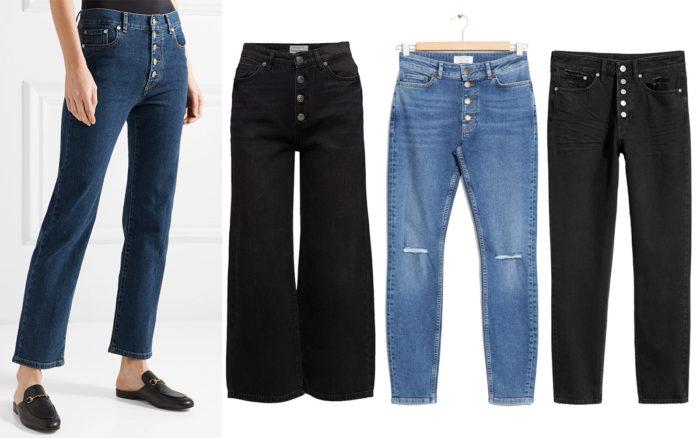 c05b37cc8 Läs mer och köp här. (reklamlänk via Apprl) 2. Svarta jeans med synliga  knappar från Selected Femme (reklamlänk via Apprl) .