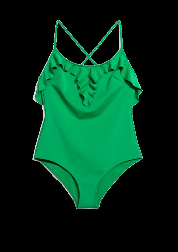Grön baddräkt med volanger från   Other stories (reklamlänk via Apprl) . e73f5e731268c