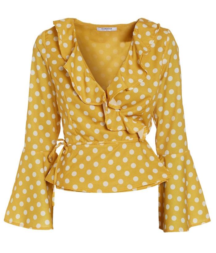 Prickig gul omlottblus från Glamorous (reklamlänk via Tradedoubler) . Läs  mer och köp här. (reklamlänk via Tradedoubler) 394028a8cb24b