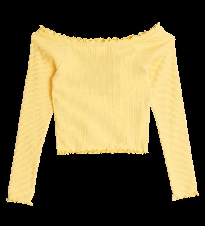Gul off shoulder-topp från Gina tricot (reklamlänk via Tradedoubler) . Läs  mer och köp här. (reklamlänk via Tradedoubler) a51cb49cfa295