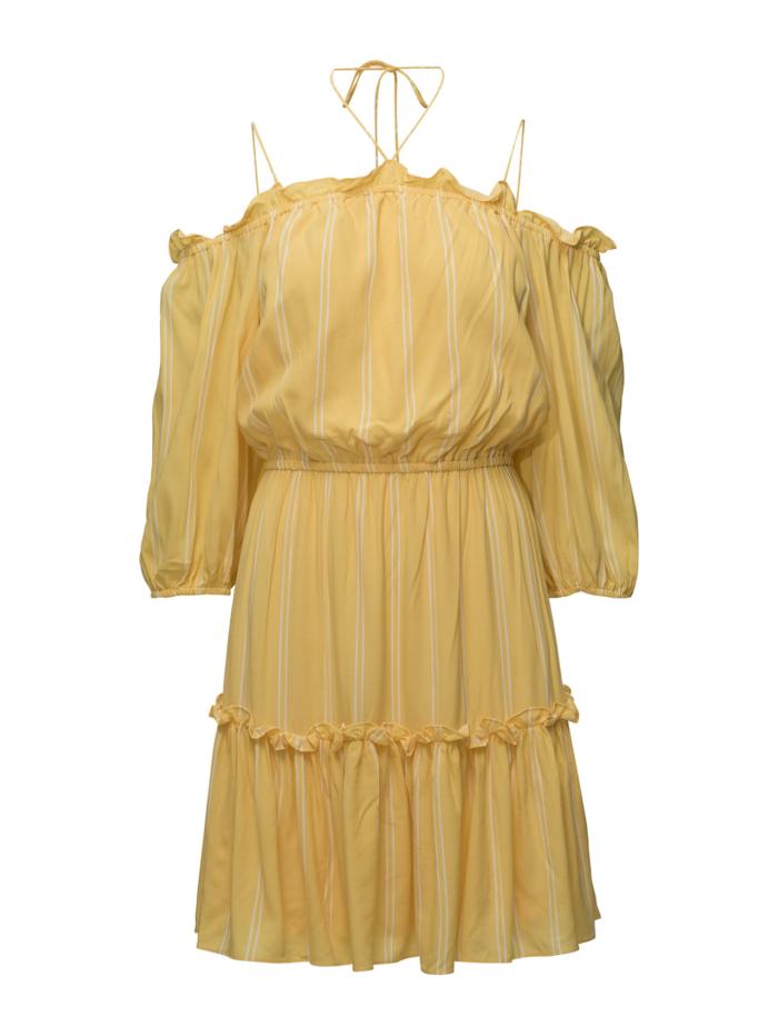 Gul klänning i off shoulder-modell från Designers Remix (reklamlänk via  Tradedoubler) . 51ef169e9b62a