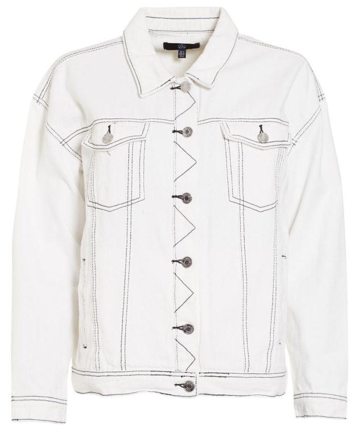 vit croppad jeansjacka