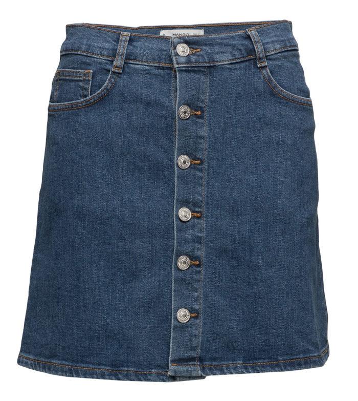 a2e97763eae1 A-linjeformad jeanskjol från Mango (reklamlänk via Tradedoubler) .