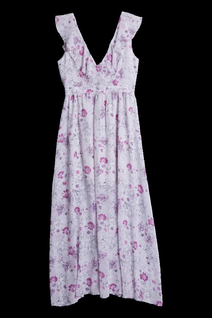bca657abf4e7 Lila blommig klänning till sommaren 2018 från Gina tricot (reklamlänk via  Tradedoubler) .
