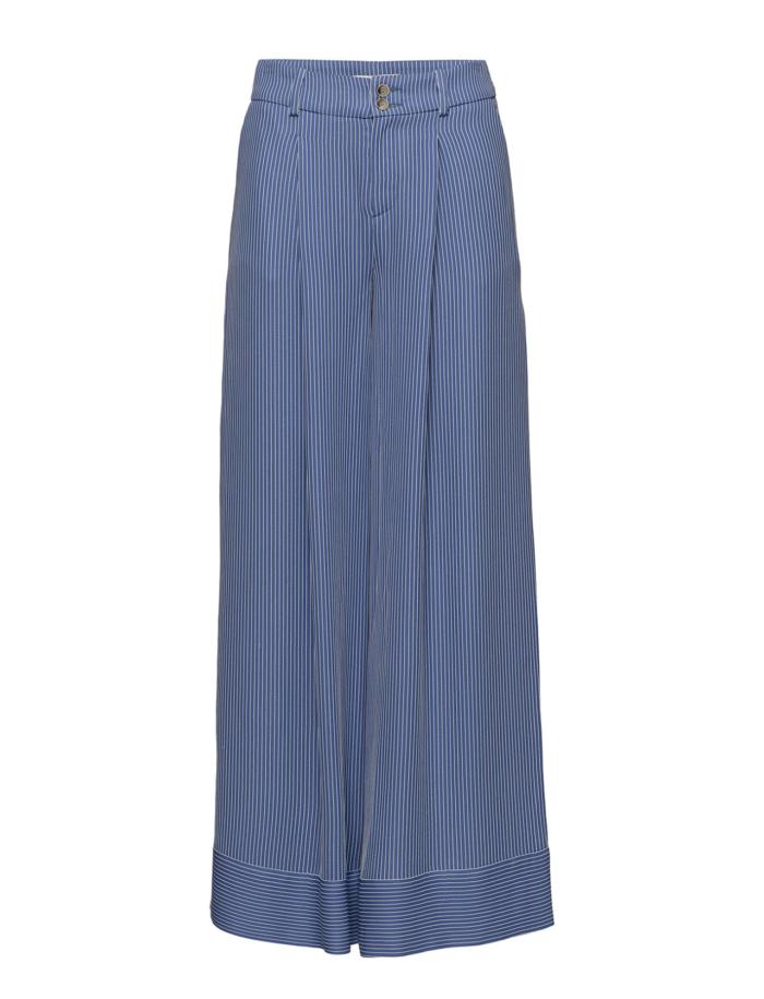 Randiga byxor med vida ben och hög midja från Áeron (reklamlänk via  Tradedoubler) . 8a904651868d5