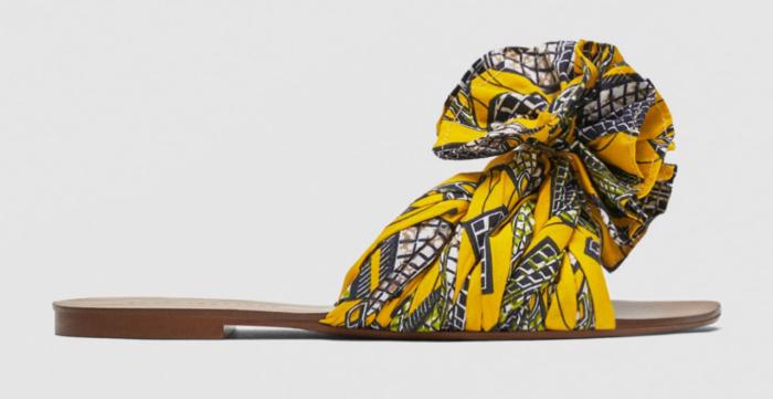 Sandaler till sommaren med gult tyg 1576ea0b1b67f