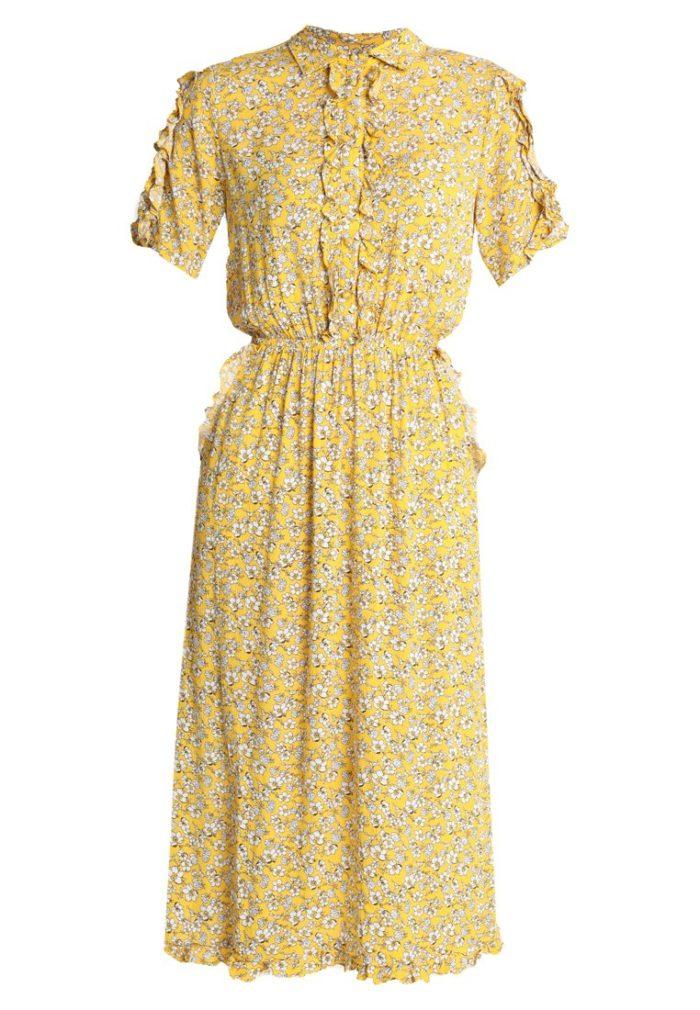 Gul småblommig klänning från Vila (reklamlänk via Tradedoubler) . 3f29f9952f348