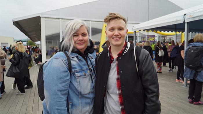 Anna-Karin Blom och Morgan Klippel på Statement festival.