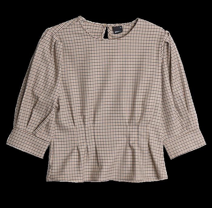Rutig blus med puffärm från Gina tricot. Klicka hem den här. (reklamlänk  via Apprl) cfc2ef67155c1