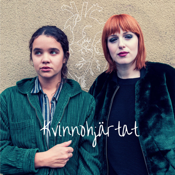 Stella Cartiers och Cissi Wallin på omslaget av Kvinnohjärtats nya EP.