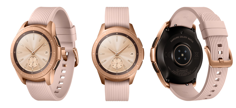 Samsung Galaxy Watch i färgen Rose Gold
