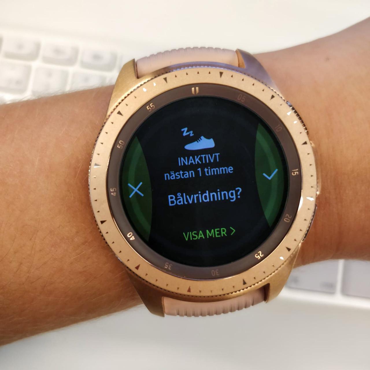 Samsung Galaxy Watch påminner dig om att röra på dig om du sitter still för länge