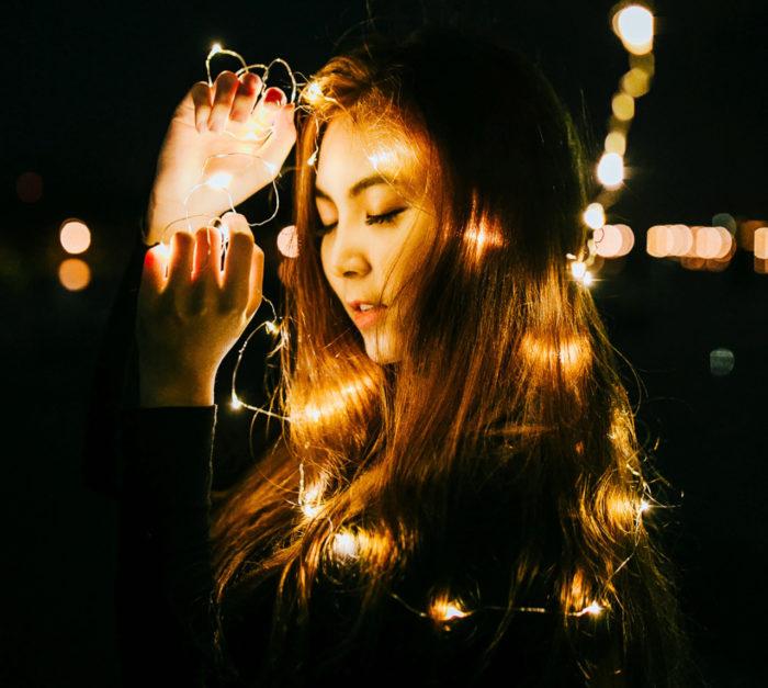 Ljusslingor, fairy lights, för håret!